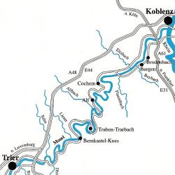 Die Mosel zwischen Koblenz und Trier