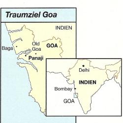 Strand von Goa, an der Westküste Indiens