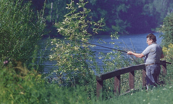 Angeln an der Isar bei Dingolfing in Bayern, 1500 Quadratmeter