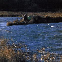 Angeln in Kiesgruben im Winter