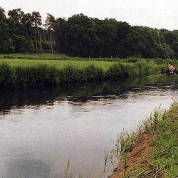 Die Ilmenau ein Fluss in der Heide, für Angler besonders interessant