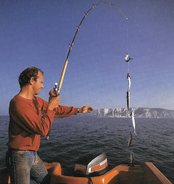 Fischen mit Makrelenfedern, Mike Millman erklärt die Technik