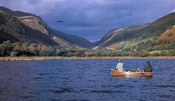 Fliegenfischen in schottischen Lochs ist etwas Besonderes