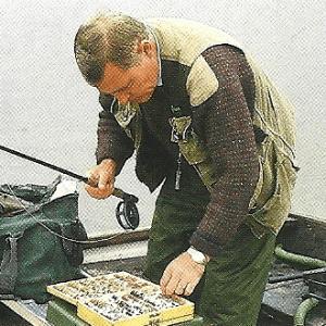 Fliegenfischer Brian Leadbetter am Pitsford Water in England