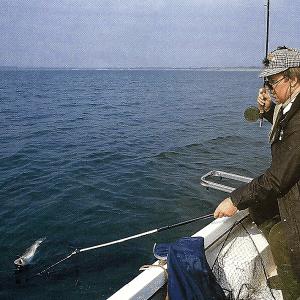 Flugangler Bob Church (Flugangelexperte) am Grafham Water