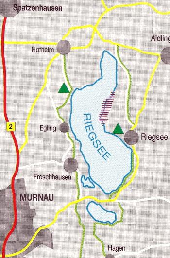 Für Hecht- und Karpfenangler, der Riegsee in Oberbayern