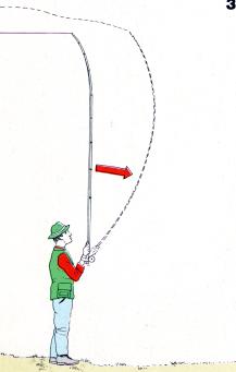 Werfen mit der Fliegenrute